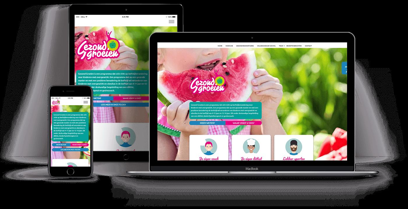 Portfolio Websus Gezond groeien